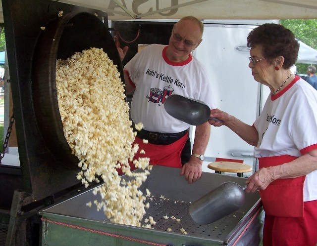 Kahl's Kettle Korn is always by the road and golf course