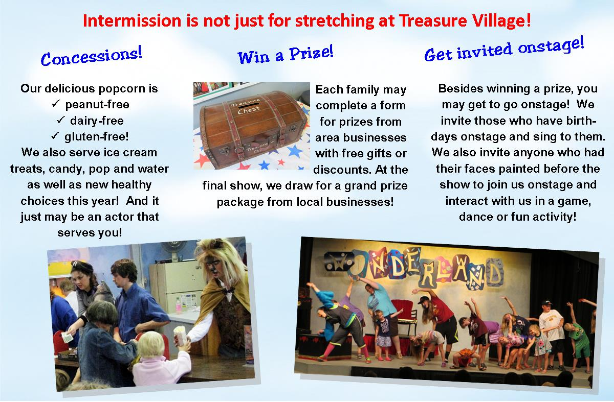 Intermission Fun with concessions, prizes, and onstage fun!